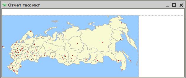 Макет с картой РФ